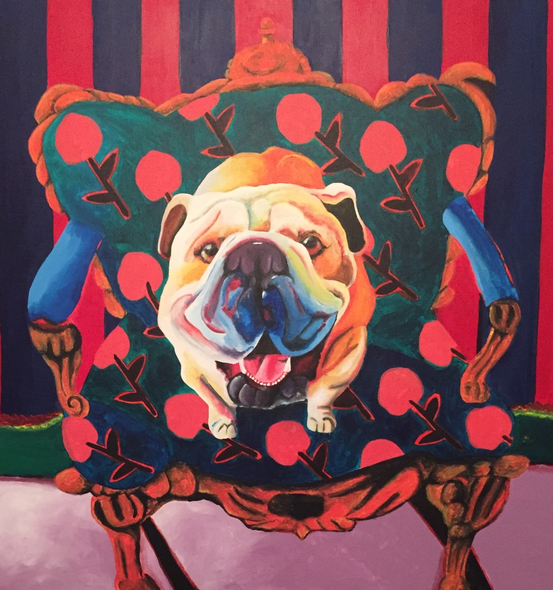 seated-bulldog-popart